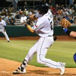 San Antonio Missions outfield Agustin Ruiz had two hits on Tuesday at Wolff Stadium. - photo by Joe Alexander