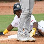 The San Antonio Missions' Esteury Ruiz slides safely into third base on Tuesday at Wolff Stadium. - photo by Joe Alexander