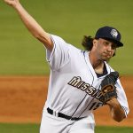 Brandon Komar pitched 3 2/3 innings in relief for the San Antonio Missions on Friday at Wolff Stadium. - photo by Joe Alexander