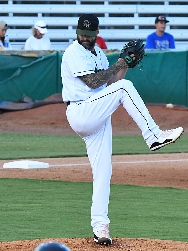 San Antonio Missions reliever Joe Beimel pitched 2 1/3 innings Sunday at Wolff Stadium. - photo by Joe Alexander