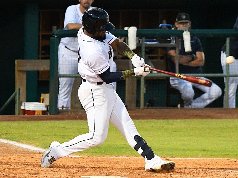 San Antonio Missions third baseman Allen Cordoba had two hits Sunday at Wolff Stadium. - photo by Joe Alexander