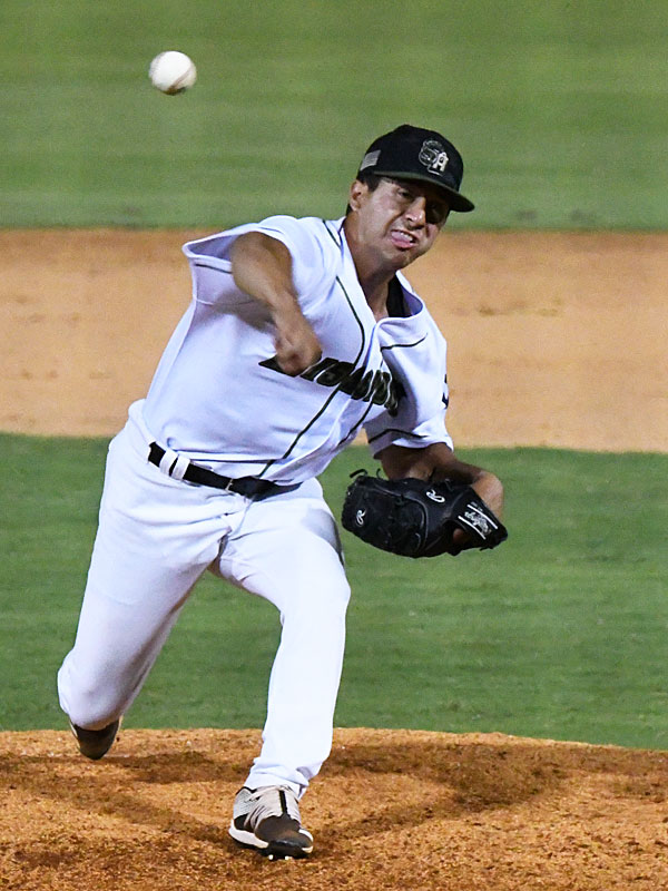 San Antonio Missions reliever Jose Quezada pitched the final inning Sunday at Wolff Stadium. - photo by Joe Alexander