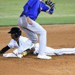 San Antonio Missions center fielder Esteury Ruiz stole two bases on Wednesday at Wolff Stadium. - photo by Joe Alexander