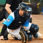 San Antonio Missions catcher Chandler Seagle digs out a pitch outside and in the dirt on Thursday at Wolff Stadium. - photo by Joe Alexander