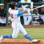 Michael Curry homers in the second inning with a runner on base for the San Antonio Missions' only runs on Thursday at Wolff Stadium. - photo by Joe Alexander
