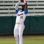 San Antonio Missions third baseman Olivier Basabe catches a popup on Thursday at Wolff Stadium. - photo by Joe Alexander
