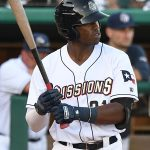 The San Antonio Missions' Dwanya Williams-Sutton had a walk and scored on Olivier Basabe's fifth-inning home run on Sunday at Wolff Stadium. - photo by Joe Alexander
