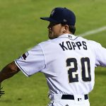 Kevin Kopps warms up in the bullpen before making his San Antonio Missions debut on Wednesday at Wolff Stadium. - photo by Joe Alexander