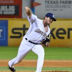 Former Arkansas star Kevin Kopps pitched the ninth inning for the San Antonio Missions on Saturday at Wolff Stadium. - photo by Joe Alexander
