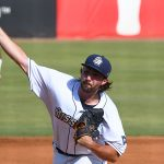 San Antonio Missions starting pitcher Brandon Komar pitched five scoreless innings to get the win in Wednesday's first game at Wolff Stadium. - photo by Joe Alexander