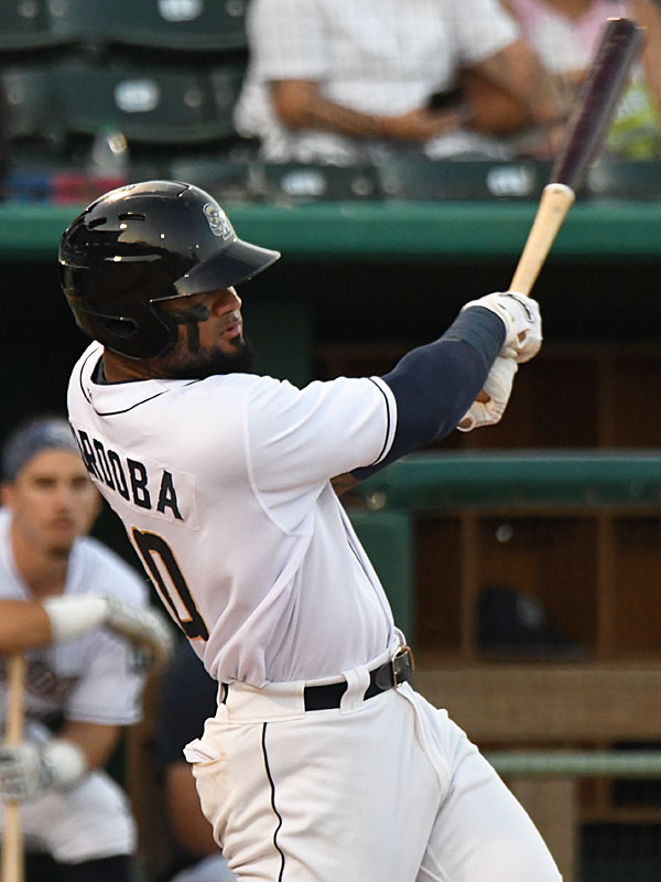 Allen Cordoba hit a second-inning double that led to the San Antonio Missions' only run on Friday at Wolff Stadium. - photo by Joe Alexander
