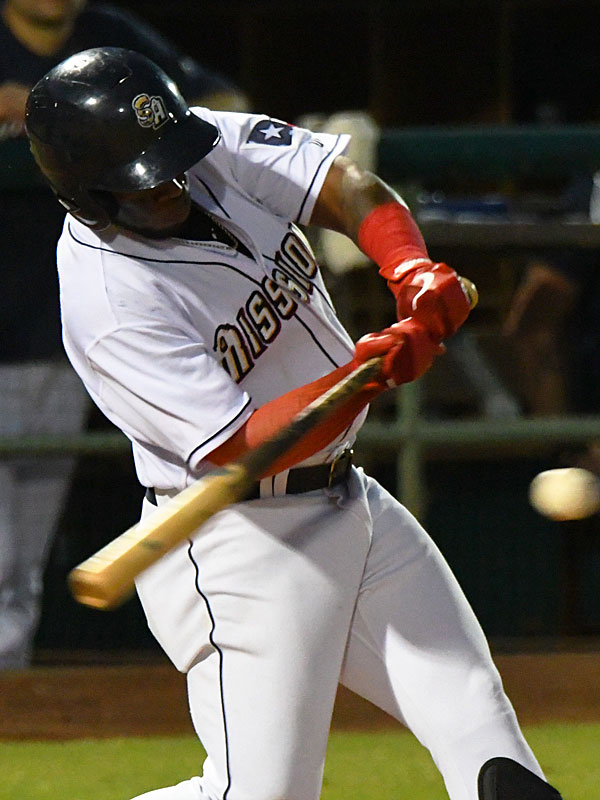 Olivier Basabe had two of the San Antonio Missions' six hits on Saturday at Wolff Stadium. - photo by Joe Alexander