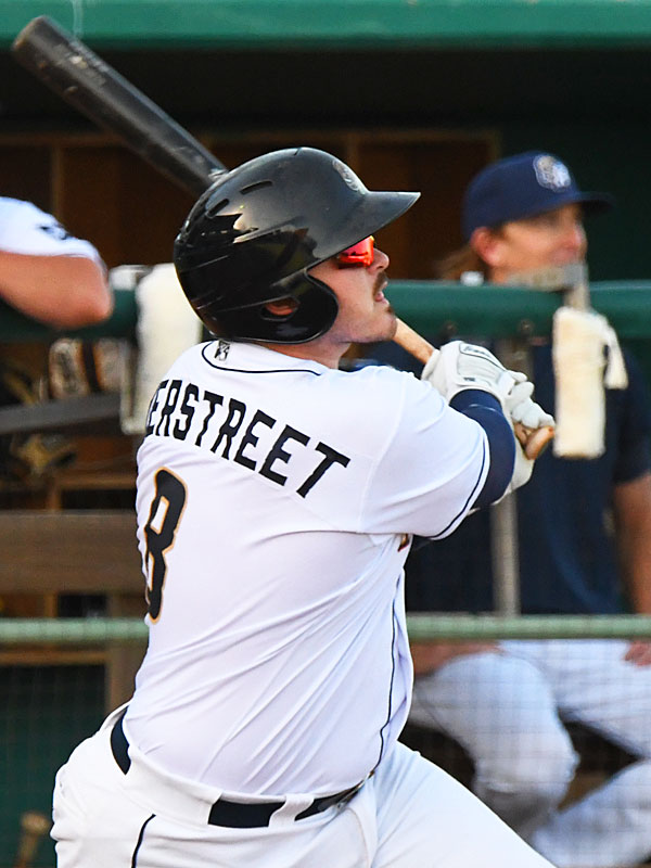 Kyle Overstreet hit his fourth home run of the season in the San Antonio Missions' victory over the Amarillo Sod Poodles on Sunday at Wolff Stadium. - photo by Joe Alexander