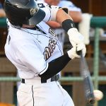 The San Antonio Missions' Chandler Seagle had a two-run double and also scored in the second inning on Sunday at Wolff Stadium. - photo by Joe Alexander
