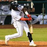 Olivier Basabe hit his third home run with the San Antonio Missions in Sunday's victory over the Amarillo Sod Poodles at Wolff Stadium. - photo by Joe Alexander