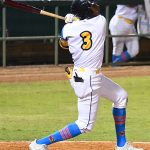 Esteury Ruiz's three-run double in the seventh inning put the San Antonio Missions in front for good on Thursday at Wolff Stadium. - photo by Joe Alexander