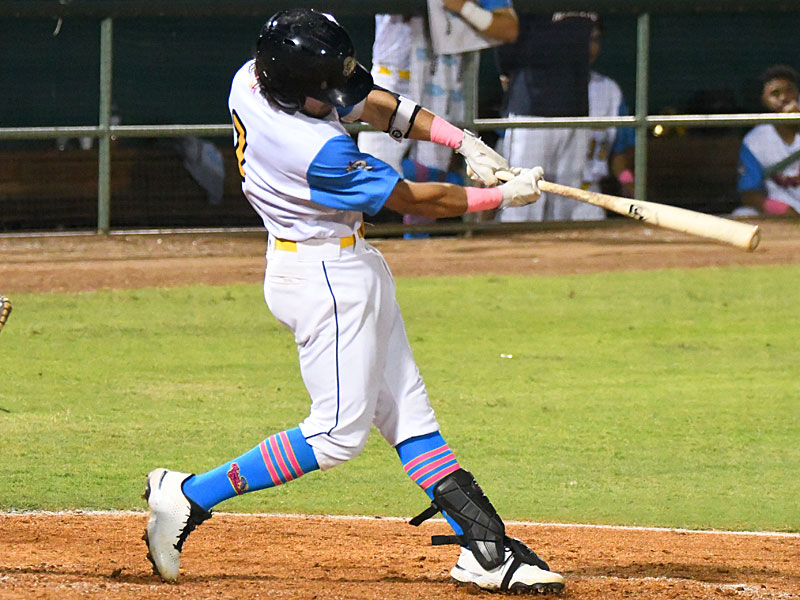 The San Antonio Missions' Ethan Skender had an RBI single in the seventh inning on Thursday at Wolff Stadium. - photo by Joe Alexander