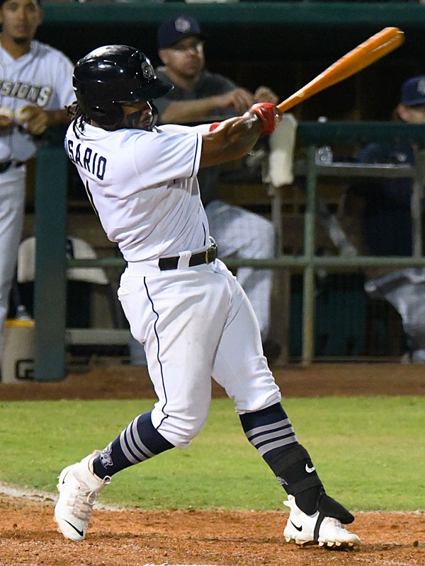 Eguy Rosario doubled and scored in the fourth inning for the San Antonio Missions' only run on Saturday at Wolff Stadium. - photo by Joe Alexander