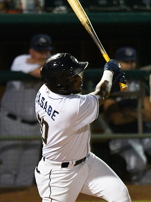Olivier Basabe doubled in the fourth inning to drive in the San Antonio Missions' only run of the game on Sunday at Wolff Stadium. - photo by Joe Alexander