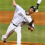 Mason Fox pitched in relief for the San Antonio Missions on Sunday at Wolff Stadium. - photo by Joe Alexander