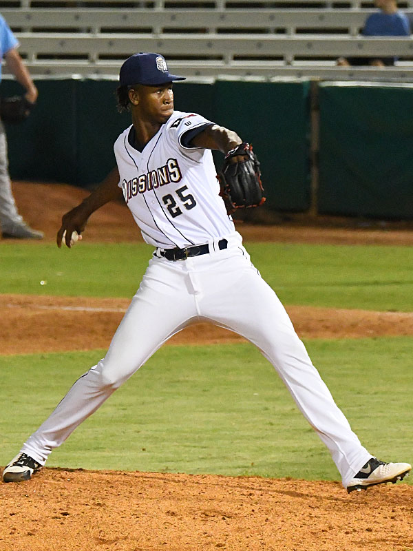 Henry Henry pitched the final two innings for the San Antonio Missions on Sunday at Wolff Stadium. - photo by Joe Alexander