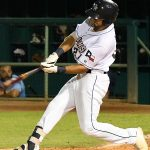 Agustin Ruiz doubled and scored the San Antonio Missions' only run of the game on Sunday at Wolff Stadium. - photo by Joe Alexander